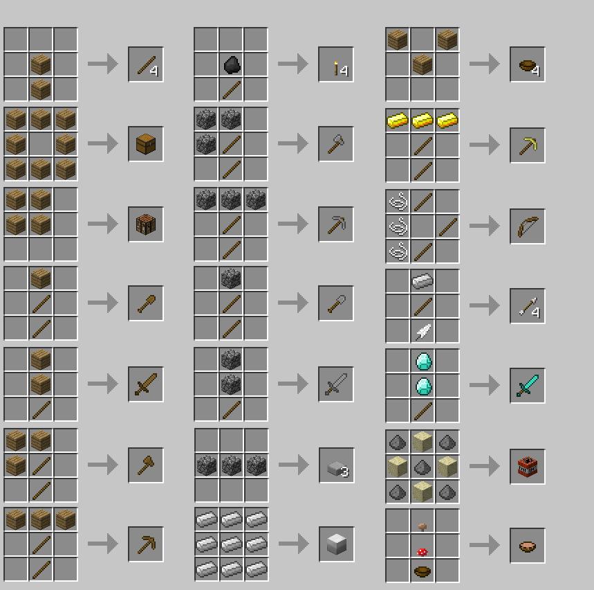 minecrat crafting
